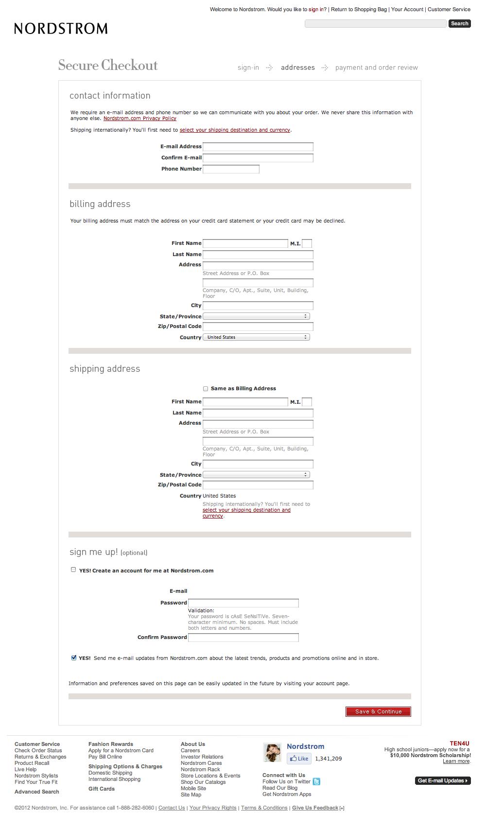 The State Of E-Commerce Checkout Design 2012 — Smashing Magazine