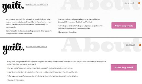 CSS columns on yaili.com