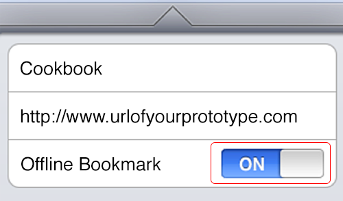iCab - create offline bookmark