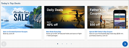 Expedia addresses scarcity in a number of ways.