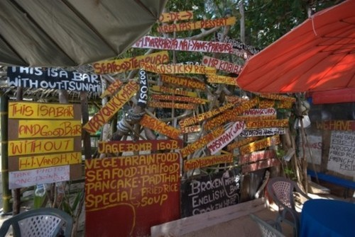 Wayfinding and Typographic Signs - thailand-bar-signs