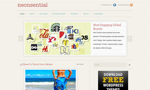 Neonsential Free WP Theme