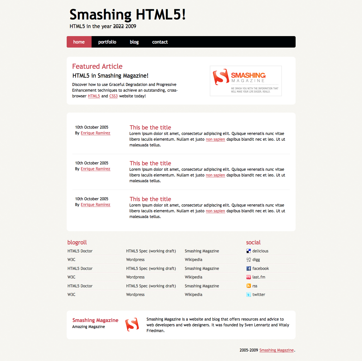 Coding An Html 5 Layout From Scratch Smashing Magazine