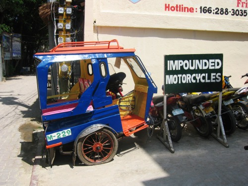 Wayfinding and Typographic Signs - impounded-motorcycles