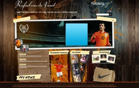 Textures and Patterns Design - Rafael van der Vaart official football website