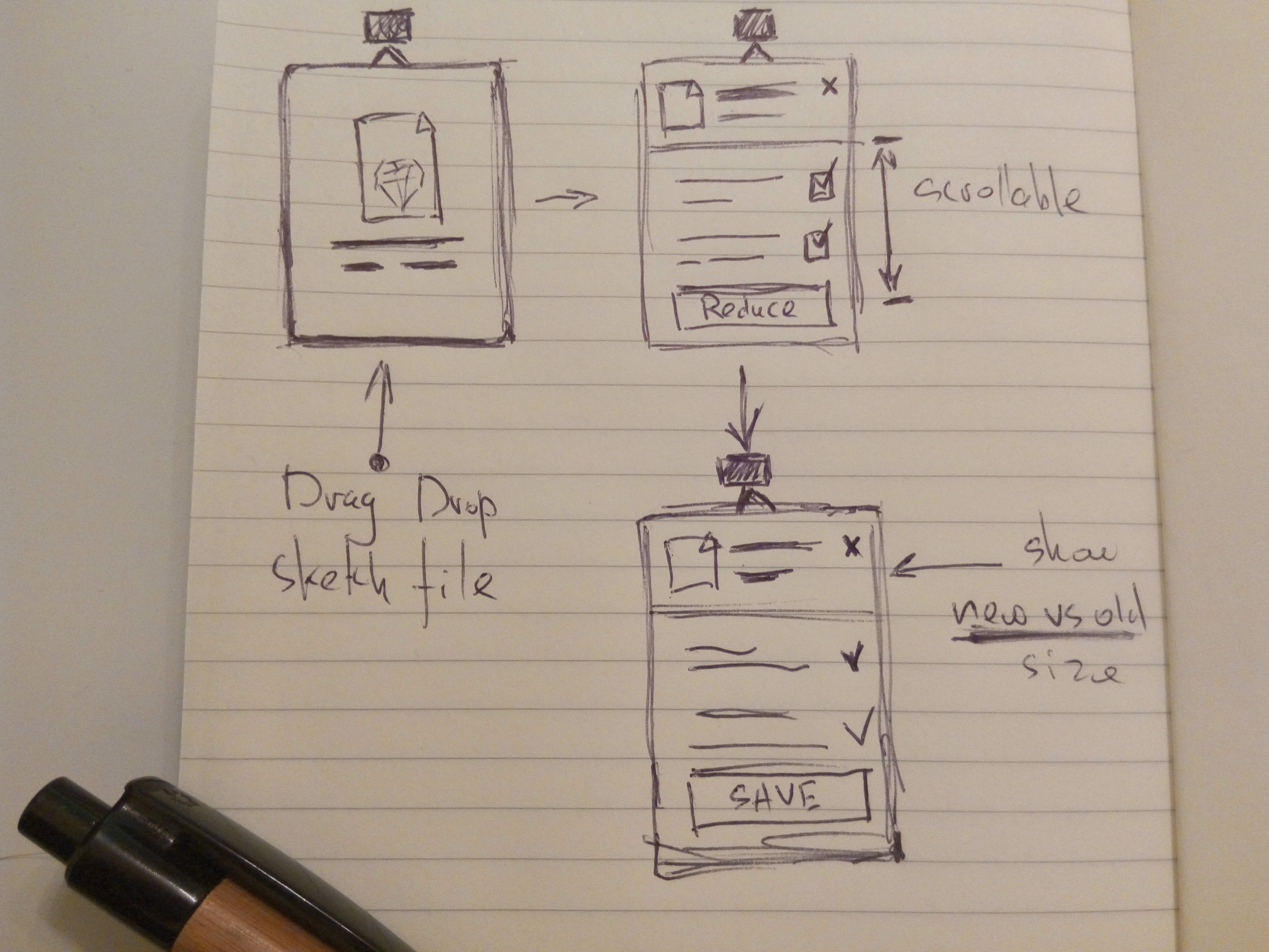 Optimizing Sketch Files Lessons Learned In Creating The Reduce App Dimmer Switch Wiringdimmerswitchsketch1jpg Initial Wireframe