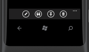 Collapsed Application Bar