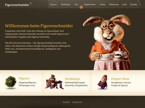 German Web Design - figurenschneider puppenbau norman schneider, bielefeld