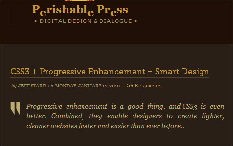 CSS3 + Progressive Enhancement = Smart Design