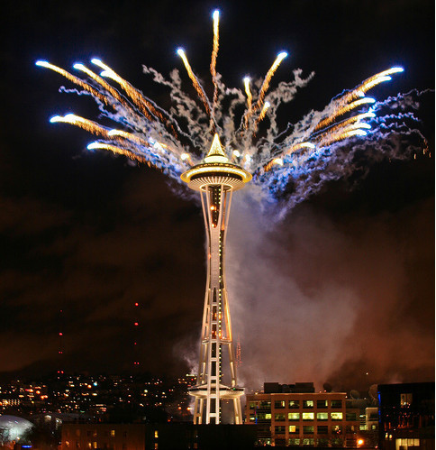 Fireworks Photos - Seattle New Year