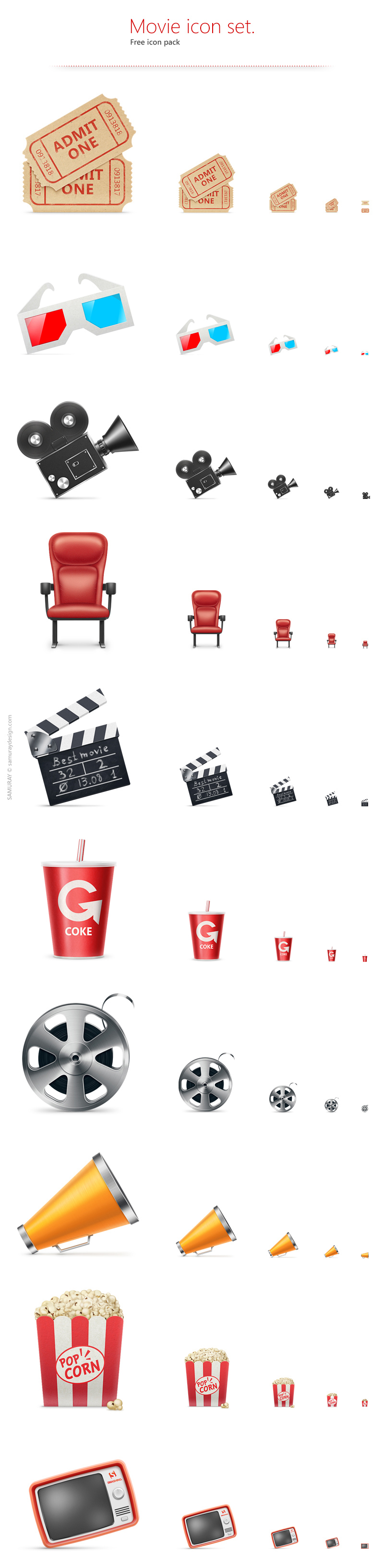 Free Movie Icon Set