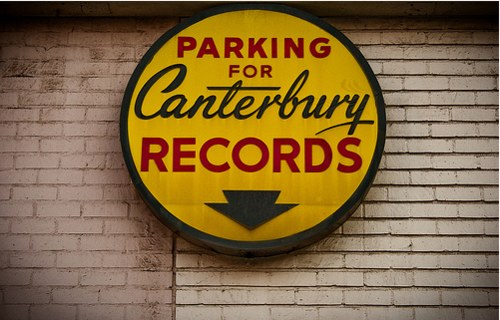 Vintage Signage - Canterbury Records - rear