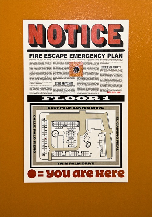 Wayfinding and Typographic Signs - escape-plan