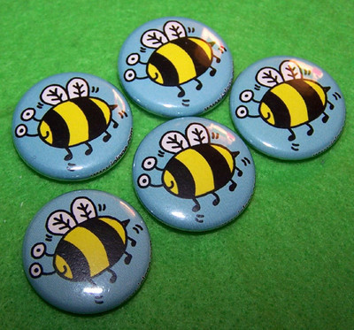 Pins, Badges and Buttons - bee buttons