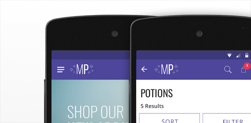 menu and back button placement