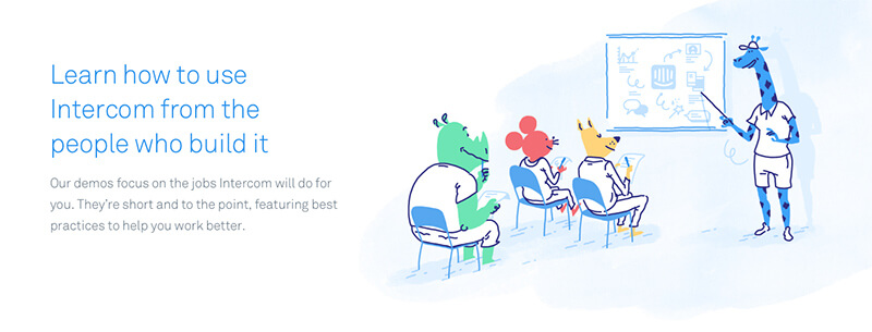 Intercom illustrations take the whimsy up to 11
