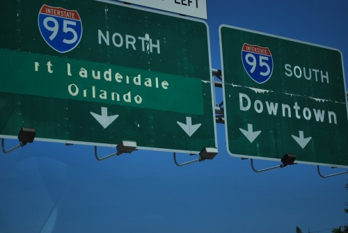 Wayfinding and Typographic Signs - miami-highway-marker
