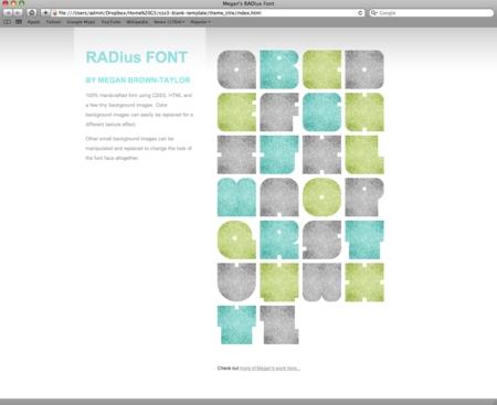 CSS3 Designs For Free Download - css3-megans-radius-font