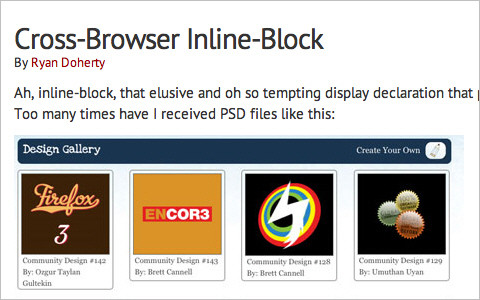 Cross-Browser Inline-Block