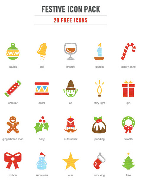 Festive Christmas Icons