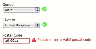 Website form validation