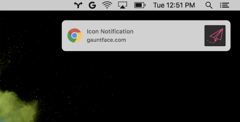 New Chrome notifications on macOS