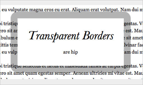 Transparent Borders with background-clip