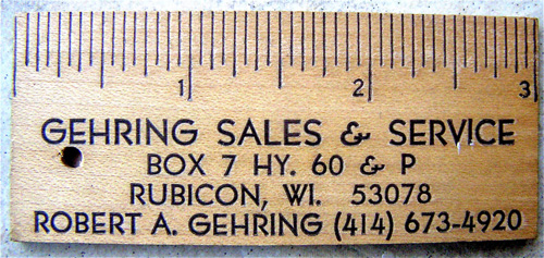 Business card design better than a plain ol business card a card made from an old ruler reheart Gallery