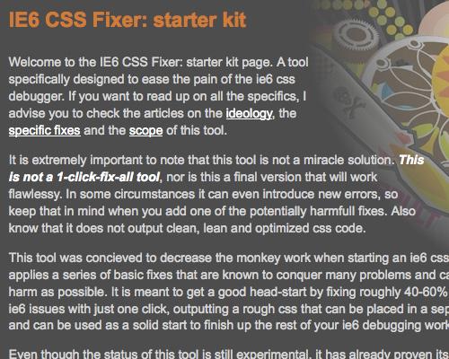 IE6 CSS Fixer