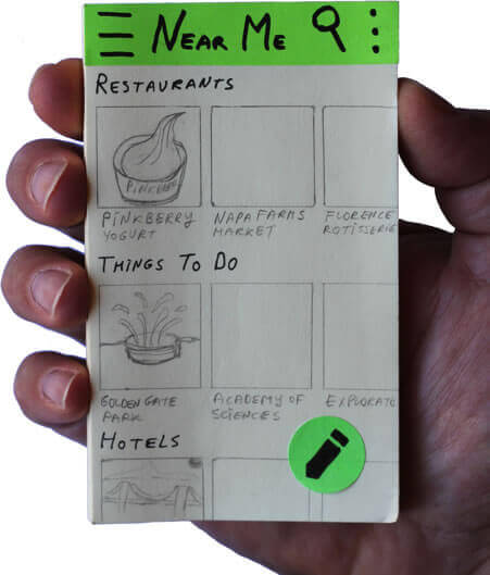 Sticky notes mobile prototype