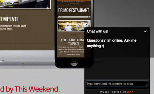 Live chat is a great way to spark conversations with customers.
