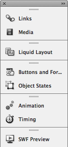 These panels are where most of InDesign's interactive functionality can be accessed.