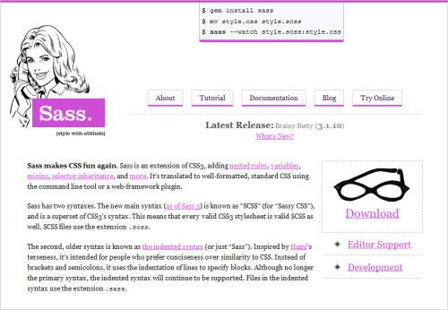 Sass homepage