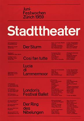 Josef Müller–Brockmann's Stadttheater Poster