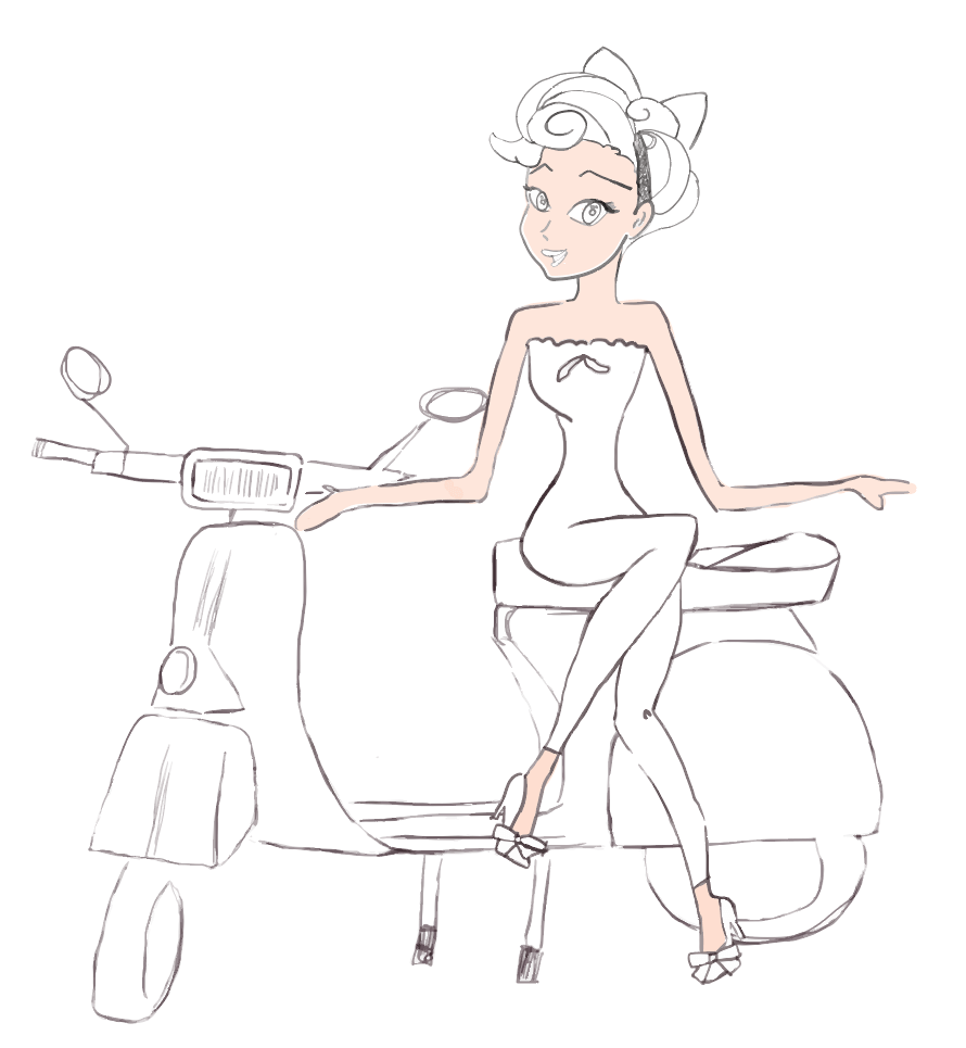 Coloring in progress.