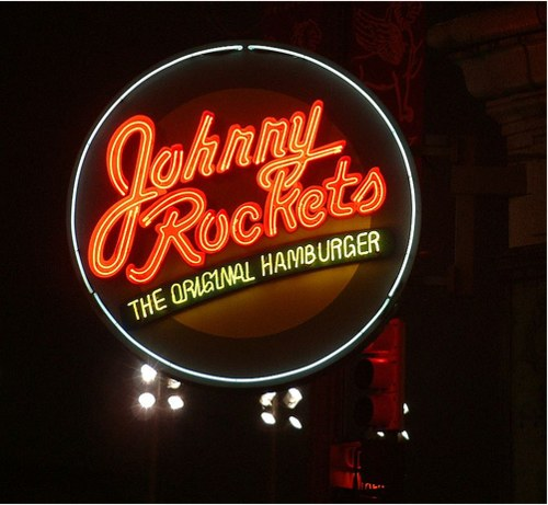 Vintage Signage - Johnny Rockets on Woodward in Downtown Detroit