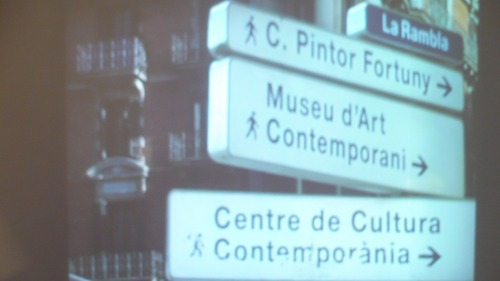 Wayfinding and Typographic Signs - streets-signs-in-barcelona