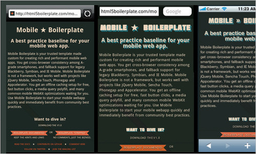 Mobile Boilerplate