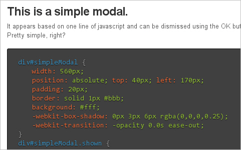 Drop-In Modals with CSS3