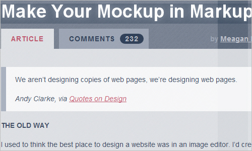Make Your Mockup in Markup - Megan Fisher