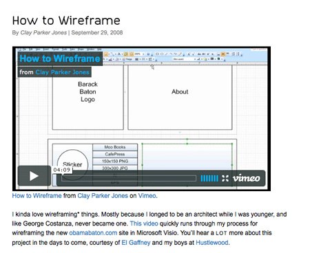 Wireframes Screenshot