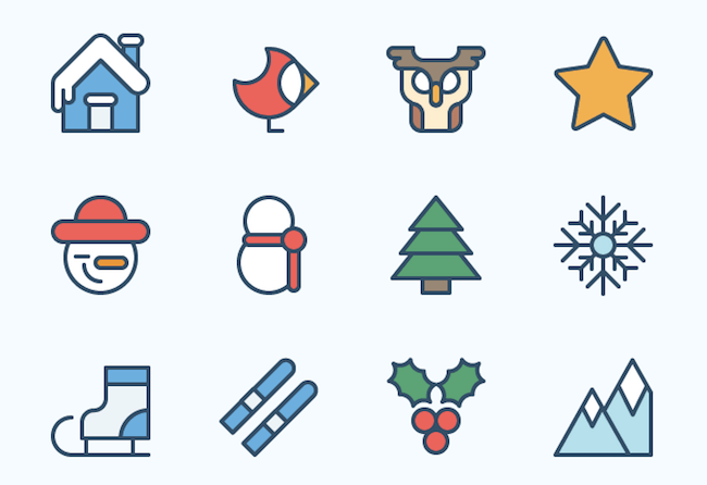 Christmas Icon Set Outdoor