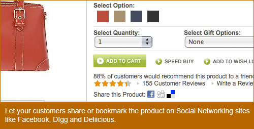 qvc.com offers customers the ability to share and bookmark products from the product detail page