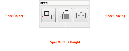 Object, Width/Height, Spacing
