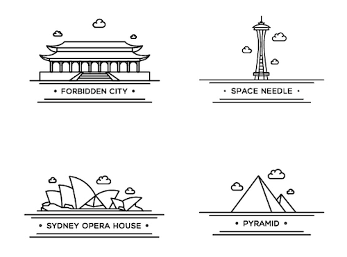 World Landmark Icons