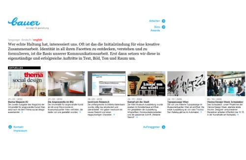 German Web Design - bauer konzept & gestaltung