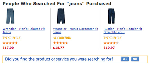 Walmart Search Results Options