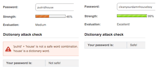 Passphrase will protect users against dictionary attacks more than a password.