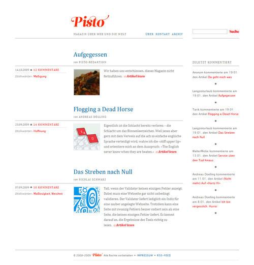 German Web Design - pisto - magazin ?ber web und die welt