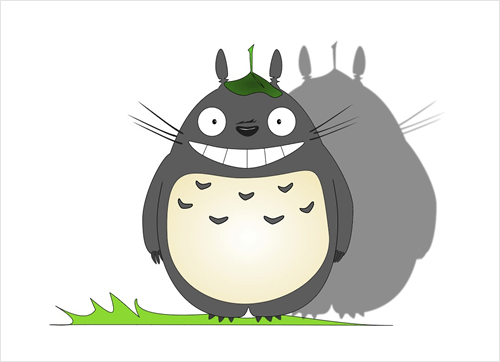 """Totoro"" is an illustration I created in Gravit while exploring its features."